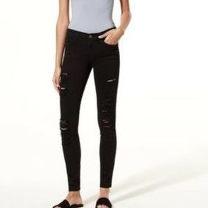 Aritzia The Castings Mid-Rise Skinny Ripped Jeans